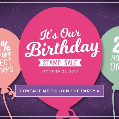 One day sale – Celebrate Stampin' Up's Birthday